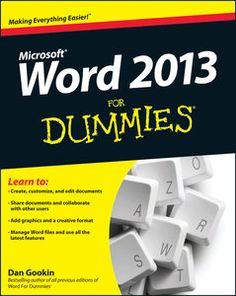Word 2013 For Dummies PDF