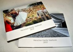 A collection of family yearbooks. | 26 Incredibly Meaningful Gifts You Can Give Your Kids