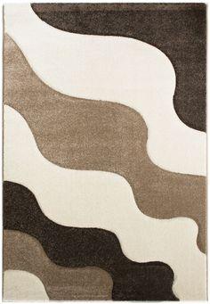 Florida 942 Beige Teppich Carpet Modern Grau Braun Weiss Style Einfach
