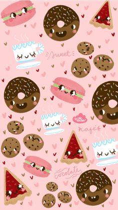 "wallppaper ""Sweet"" by @lau_ilustra #wallpaper #iphone #illustration #ilustracion"