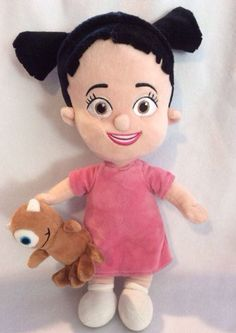 """Monsters Inc Boo Little Mikey Plush Disney Store UK Soft Toy Doll 13"""" #Disney"""