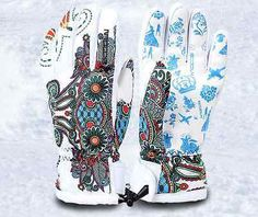 #Womens ski snowboard glove size large #flower #design,  View more on the LINK: 	http://www.zeppy.io/product/gb/2/272297375873/