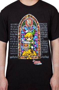 Stained Glass Zelda Shirt: Video Games Nintendo, Zelda T-shirt