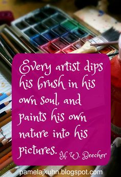 Whether we are painting with a brush, words, DIY projects, food or wherever our talents lay, we are only effective when our souls are engaged.