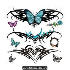 Tribal%20Tattoos%20For%20Women 05 Tribal Tattoos For Women 05 Tribal Moon Tattoo, Tribal Tattoos, Butterfly Tattoo Designs, Butterfly Design, Common Tattoos, First Tattoo, Tattoo You, Lower Back Tattoos, Picture Design