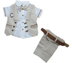 3015 Wholesale striped design gilet with shirt and capri set for boy kids clothes month). Kids Clothes Boys, Kids Boys, Wholesale Baby Clothes, Stripes Design, Baby Dress, Kids Fashion, Capri, Jackets, Shirts