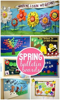 Spring Bulletin Board Ideas for the Classroom (Find flowers, bees, ants, kites, and more ideas!)It's been a BEE utiful year! Spring Bulletin Boards, Preschool Bulletin Boards, Bulletin Board Display, Classroom Bulletin Boards, Classroom Door, March Bulletin Board Ideas, Flower Bulletin Boards, Butterfly Bulletin Board, Bullentin Boards