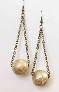 Beautiful Ball Drop Earrings | AllFreeHolidayCrafts.com