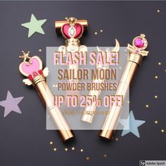 ❀ FLASH SALE ❀ Sailor Moon Powder Makeup Brushes, available individually and in sets! Available at BijouBlossoms.com