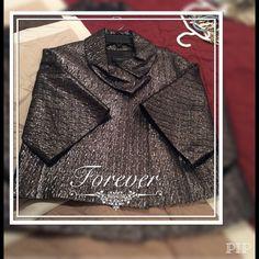 BCBGMAXAZRIA silver metallic short jacket NWOT. Beautiful, perfect for the holiday. BCBG Jackets & Coats