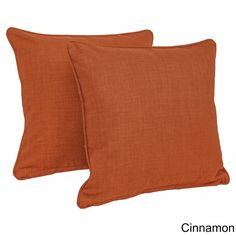 Cinnamon Blazing Needles All-weather Outdoor 20-inch Knife Edge Pillows (Pack of 2)