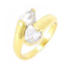 98b9ac4d964 anel com pedra de zircônia. Anel Antialérgico folheado a ouro 18k. Anel de  pedra de zircônia folheado