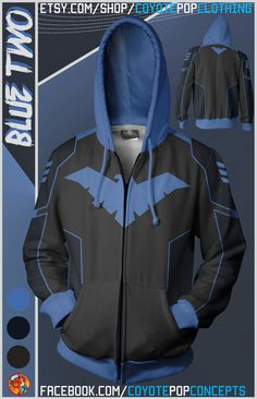 Superhero Hoodies Blue Two Nightwing