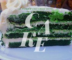 St. Patrick's Day Green Velvet Cake!