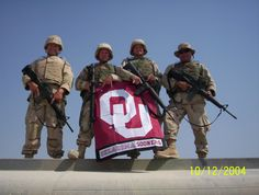 Oklahoma Sooners Serving the Nation... So Proud of these Men..Thank you all!