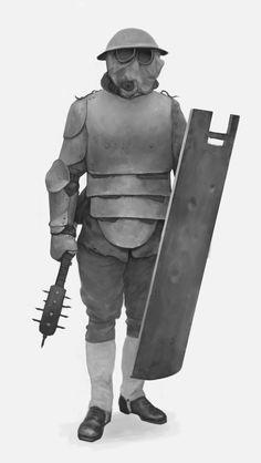 ArtStation - Soldier sketch_03, Dmitry Solonin