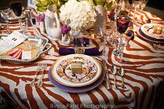 Erin Gates Elements of Style Festive Tables zebra orange fuschia glam