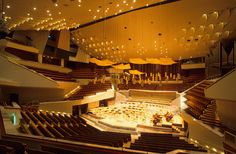 The striking 'vineyard' design of Berlin's Philharmonie, which has some of the best acoustics in Europe. Photograph: Alamy