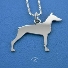 Doberman necklace pendant free shipping  от BorowskiStore на Etsy