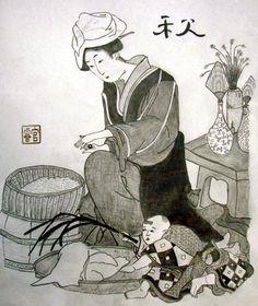 Sketch of Japanese Block Print