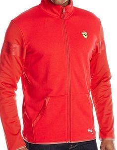 Racing-Formula 1 2876: Puma Scuderia Ferrari Sweat Jacket Rosso Corsa Size M, L, Xl, 2Xl -> BUY IT NOW ONLY: $69.99 on eBay!