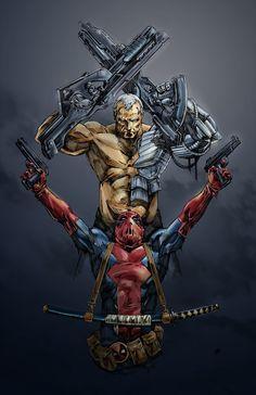 #Deadpool #Fan #Art. (Pool Cable) By: Valhaley. (THE * 5 * STÅR * ÅWARD * OF: * AW YEAH, IT'S MAJOR ÅWESOMENESS!!!™) [THANK U 4 PINNING!!!<·><]<©>ÅÅÅ+ 40 1