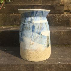 [New] The 10 Best Home Decor (with Pictures) - Recently fired pot - stoneware hand built decorated with oxides and glaze. It started its life with handles one broke in a bisc kiln accidentally so had to break other one off too. Hand Built Pottery, Stoneware, Home Goods, Vase, Ceramics, Handmade, Beautiful, Pictures, Home Decor