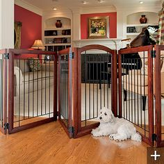 Six-Panel Pet Gate and Crate    http://www.frontgate.com/six-panel-pet-gate-and-crate/pet-products/157127?isCrossSell=true=20