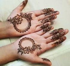 Mehndi is an integral part of Indian women. Not just in India even in Middle East, Pakistan and other countries the culture of applying Mehndi with the Round Mehndi Design, Henna Flower Designs, Henna Tattoo Designs Simple, Full Hand Mehndi Designs, Mehndi Designs Book, Mehndi Designs 2018, Modern Mehndi Designs, Mehndi Designs For Girls, Mehndi Design Photos