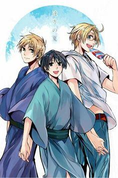 Hetalia-America,Japan,England <--- Why don't these three have a name? Everybody else has a name! I WANT A TRIO NAME RIGHT NOW.