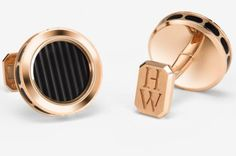 Harry Winston Rose Gold Ocean Cufflinks #cufflinks #harrywinston