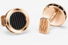 Harry Winston Rose Gold Ocean Cufflinks #cufflinks #harrywinston