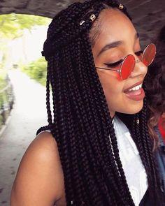 Box Braids Hairstyles, African Hairstyles, Trendy Hairstyles, Black Hairstyles, Long Hairstyle, Individual Braids Hairstyles, Hairstyles Pictures, Dreadlock Hairstyles, Hair Updo