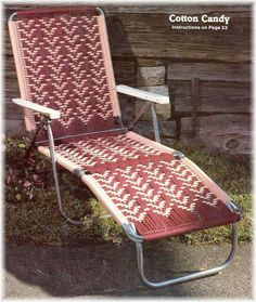 Free+Macrame+Chair+Directions | Lawn Chair Macrame Patterns