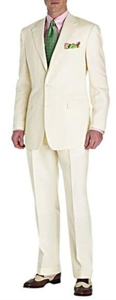 ID# mixing dressy with trendy informal casual crafted professionally Two Button Superior fabric all saison/tendency summer Wedding Suits For Groom For Sale Cream ivory off white color - Summer Wedding Suits For Groom, White Wedding Suit, Summer Suits, Wedding Attire, Fall Wedding, Mens Winter Suits, Mens Suits, Zoot Suits, Stylish Mens Fashion