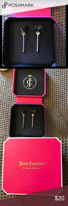 Juicy couture earrings Juicy couture dangling arrow earrings Juicy Couture Jewelry Earrings
