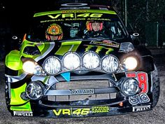 Rossi in a rally car