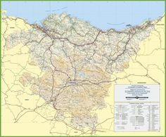 Large detailed map of Extremadura with cities and towns Maps