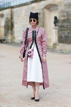 Pink Polkadot Coat ©Sandra Semburg #streetstyle #sandrasemburg #catchatrend