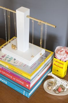 DIY: wood and brass jewelry holder