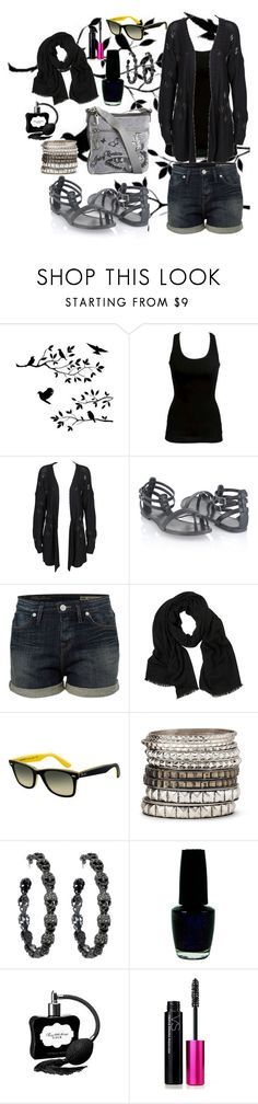 """Untitled #1"" by lacrima ❤ liked on Polyvore featuring WALL, OneTeaspoon, Forever 21, Juicy Couture, Tommy Hilfiger, Love Quotes Scarves, Ray-Ban, MNG by Mango, Amrita Singh and OPI"