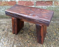 Handmade Rustic Wooden Footstool + Reclaimed Pine #Unbranded #Country