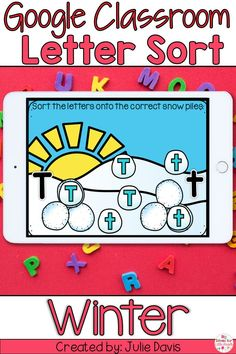 Alphabet Slides are a fun way for Preschool & Kindergarten students to practice letter recognition on iPads & Chromebooks using Google Classroom. Kids will sort capital & lowercase letters. Great for January Winter stations for visual discrimination. These digital task cards are a Winter snow activity for elementary children to use in a technology or word work center. This is a paperless activity. No worksheet needed! Great for Distance Learning, learning at home or homeschooling.