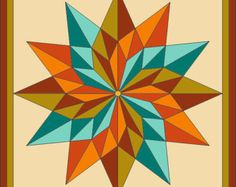 Broken Diamond Barn Quilt 2'x2' by RemillardBarnQuilts on Etsy