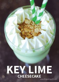 Combine key lime pie, cheesecake, and ice cream to create the ultimate milkshake. This summer treat is sure to be a big hit, and it's a great dessert to sprinkle on some Rice Krispies® cereal.
