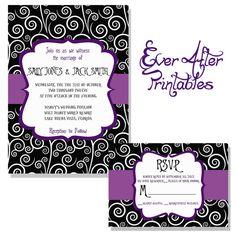 Jack skellington sally wedding invitations
