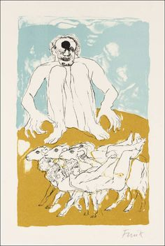 Artwork page for 'Cyclops', Dame Elisabeth Frink, Elisabeth Frink, Homer Odyssey, Drawing Sketches, Drawings, Greek Art, British Museum, Abstract Expressionism, Mythology, Screen Printing