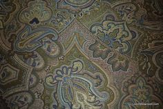 Kasbah Emerald Green Peacock Blue Paisley Heavy Woven Tapestry Heavy Weight Upholstery Fabric HDA013OS