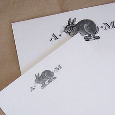 Bunny Rabbit Personalized Monogrammed Notepads with by HappyHound, $13.98