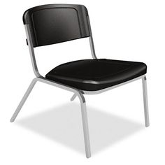 Iceberg 64021 - Rough ''N'' Ready 350 lb. Capacity Big & Tall Stack Chair - Black (4-Pack) Sale Price: $459.00